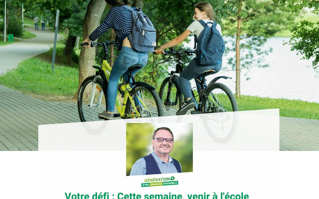 Jules Claes : Venir à l'école sans engin moteur
