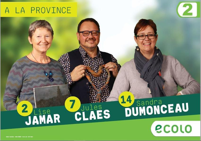 Candidats à la Province